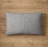 Custom Perennials® Textured Linen Weave 4-Square Lumbar Pillow Cover