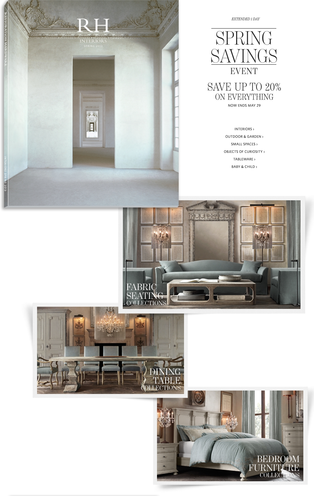 Restoration Hardware Homepage