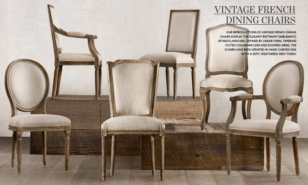 Vintage French Dining Chairs Restoration Hardware