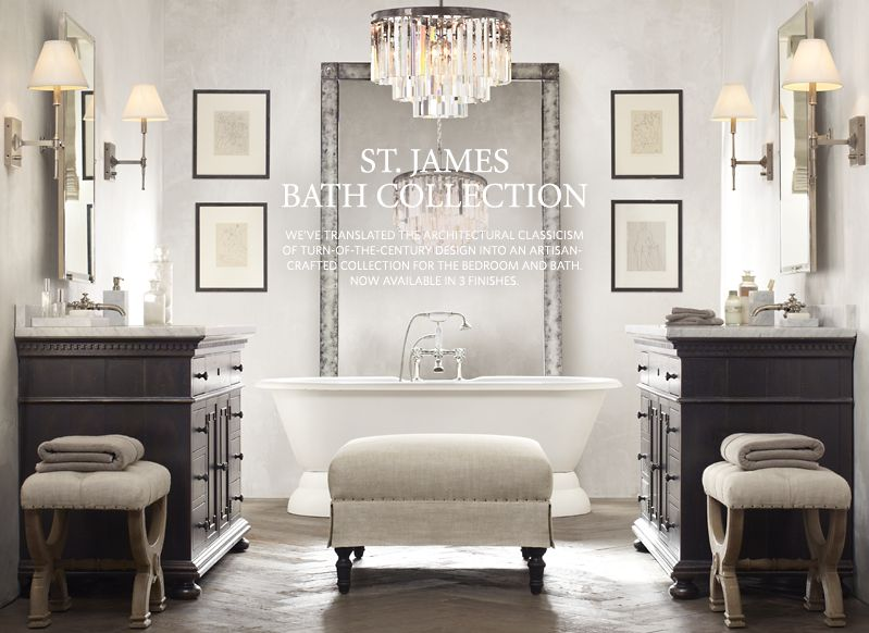 29 simple restoration hardware bathroom pictures Restoration hardware bathroom lighting