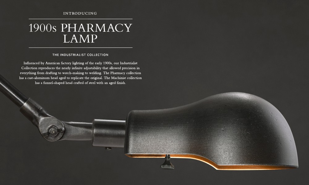 1900s Pharmacy Lamp