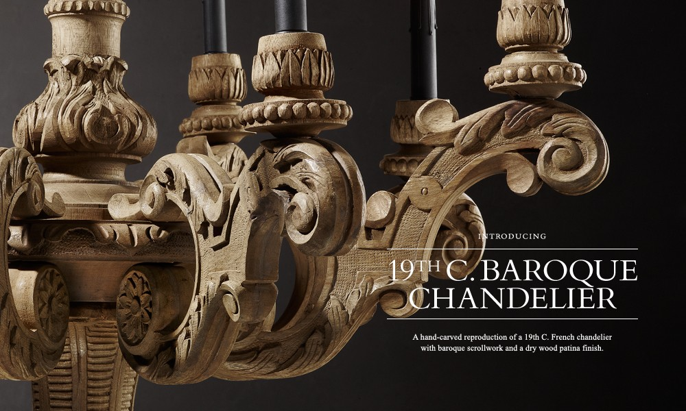 19th C. Baroque Chandelier