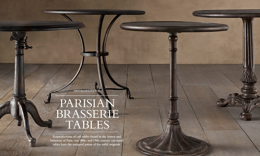 Parisian Brasserie Tables