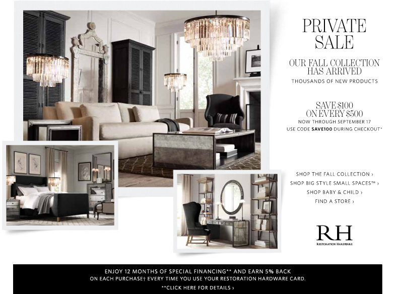 Restoration hardware discount coupon