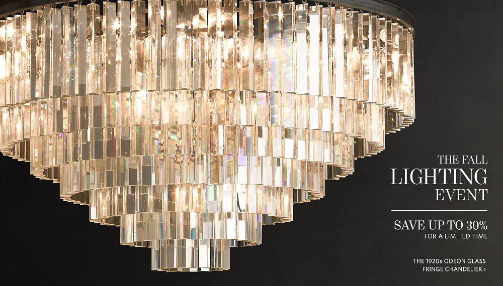 The fall lighting event save up to 30 rh for When is restoration hardware lighting sale