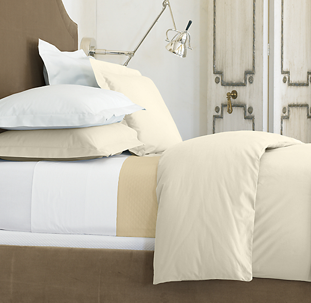 Italian 464 Percale Pillowcases (Set of 2)