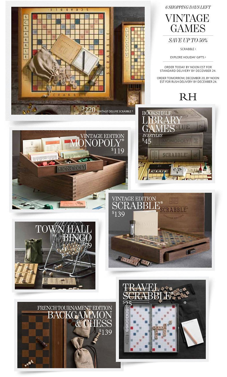 Restoration hardware coupons savings up to 50 on vintage for Restoration hardware online shopping