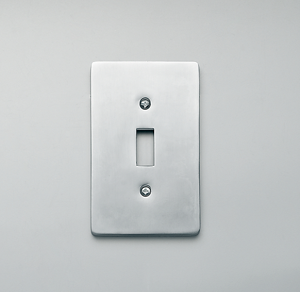 Aluminum Single Switch Plate
