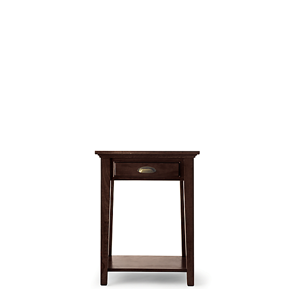 Marston 1-Drawer Nightstand (Set of 2 Open) Dark Cherry