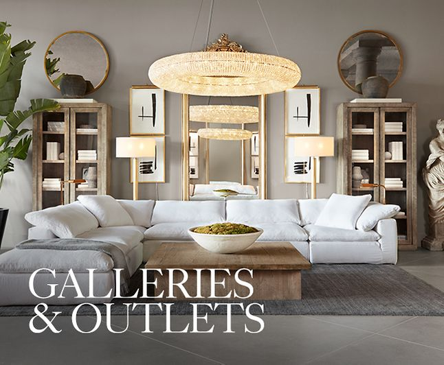 Galleries & Outlets - Our galleries reimagine the shopping experience. Blurring the lines between residential and retail, home and hospitality, indoors and outdoors, physical and digital, we create spaces that are more home than store and inspire a new way of living.