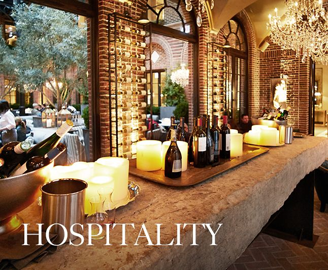 Hospitality - Many of our galleries include a world-class hospitality offering. The RH cafes, restaurants, pantries and wine vaults feature ingredient-driven menus and a curated selection of artisanal wines, craft beers and specialty coffees.