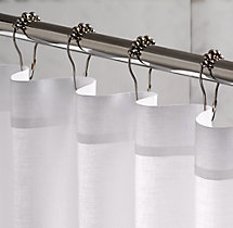 Rollerball Shower Curtain Rings (Set of 12)