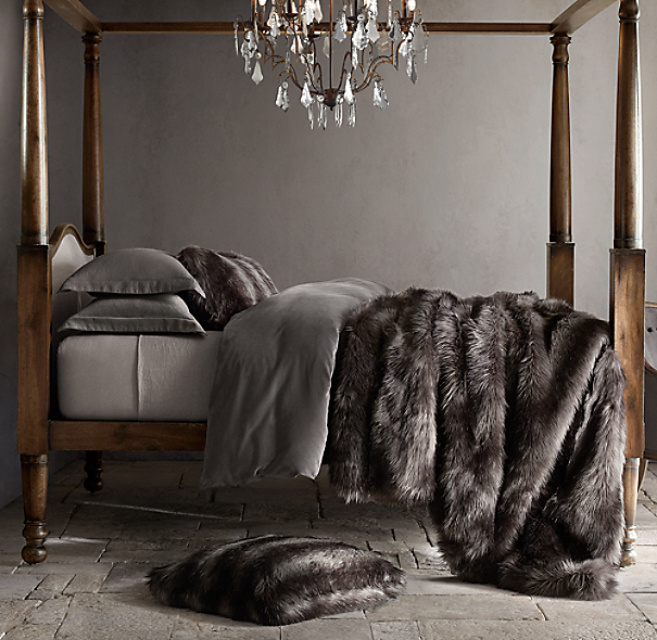 Exotic Faux Fur Oversized Bed Throw