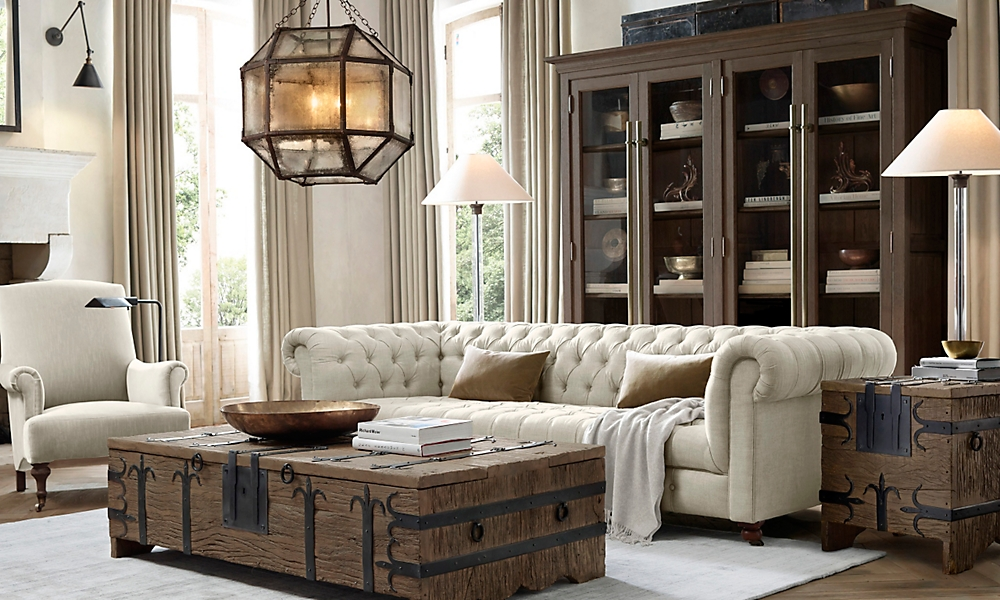 restoration hardware living rooms