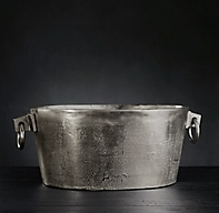 Grand Brasserie Cast Aluminum Small Oval Beverage Bucket