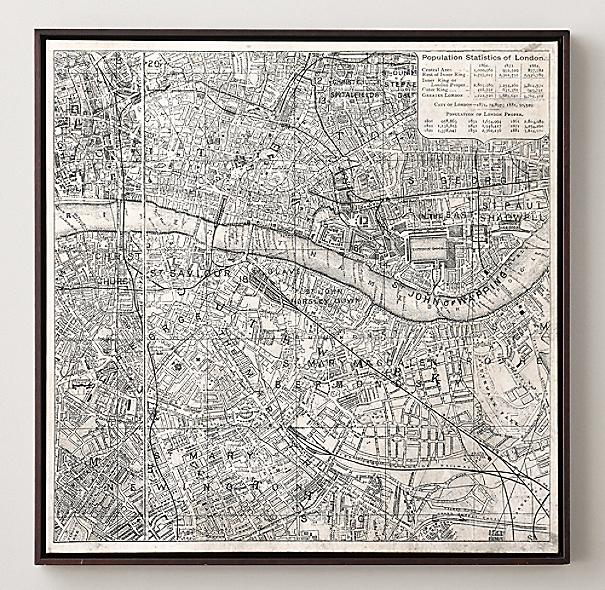 Vintage Aerial Maps Of European Cities