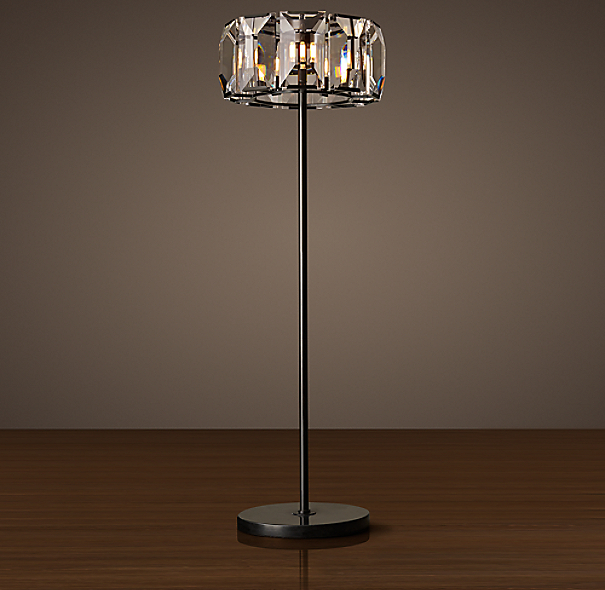 harlow crystal floor lamp. Black Bedroom Furniture Sets. Home Design Ideas