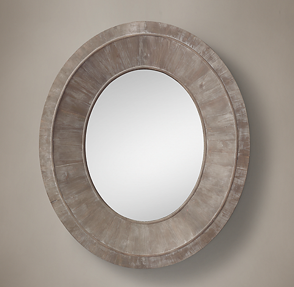 Salvaged Oval Pieced Mirror Natural