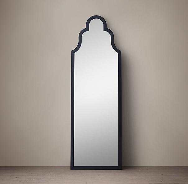 Dutch baroque leaner mirror black 30 w x 92 h for Baroque leaner mirror