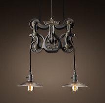 cast iron barn door trolley pendant. Black Bedroom Furniture Sets. Home Design Ideas
