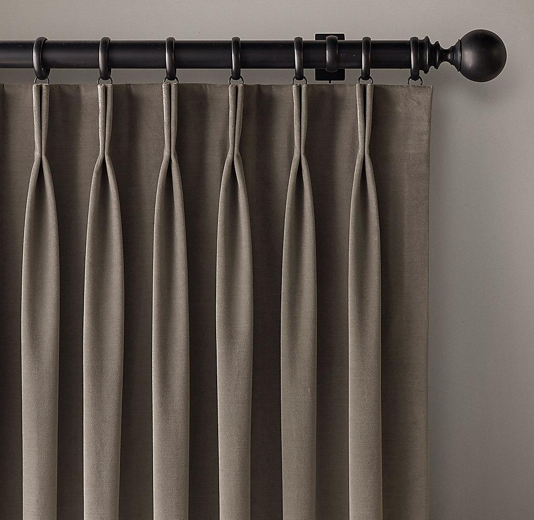 Custom Vintage Velvet 2 Fold French Pleat Drapery