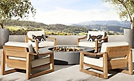 shop Sebastian Natural Teak Low Seating