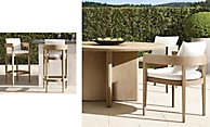 shop Balmain Weathered Teak Rect and Round Dining