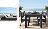 shop Belvedere Iron Dining & Chaise Smerge