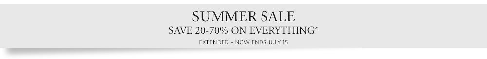 Summer Sale - Save 20 - 70%