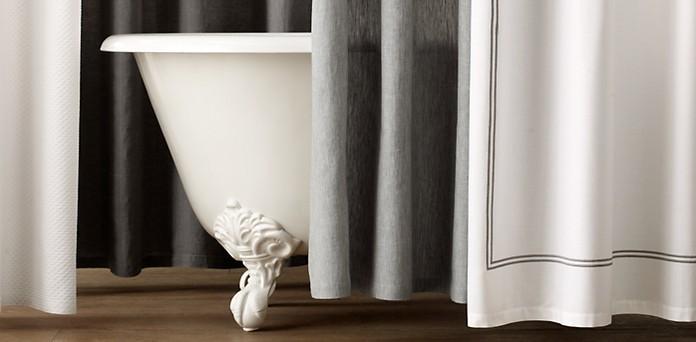 cotton linen shower curtains restoration hardware