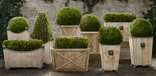 Restoration Hardware in Greenwich has a great selection of outdoor planters,  wooden, metal and stone - Bikini Ready Part III €� Planters What's The 456?