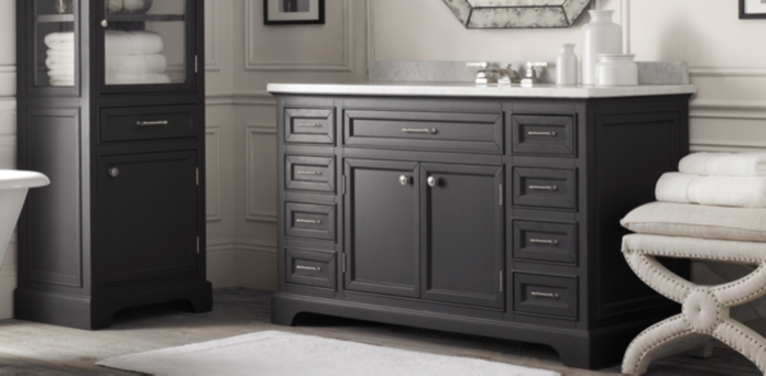 Innovative Maison Double Vanity Sink Italian Crema Antiqued Taupe