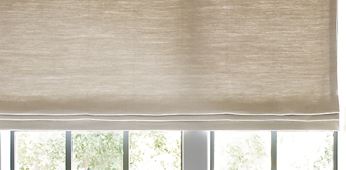 Flat roman shade restoration hardware for Restoration hardware window shades