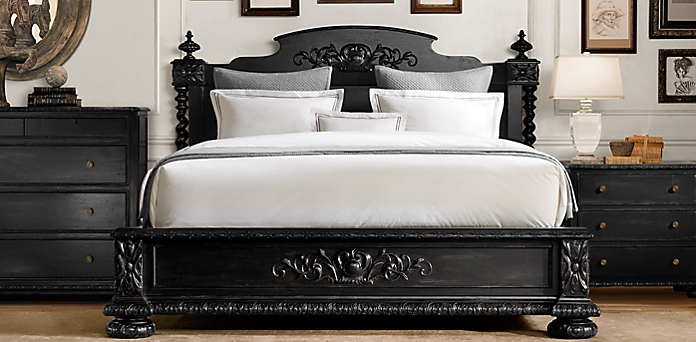 black velvet sleigh bed