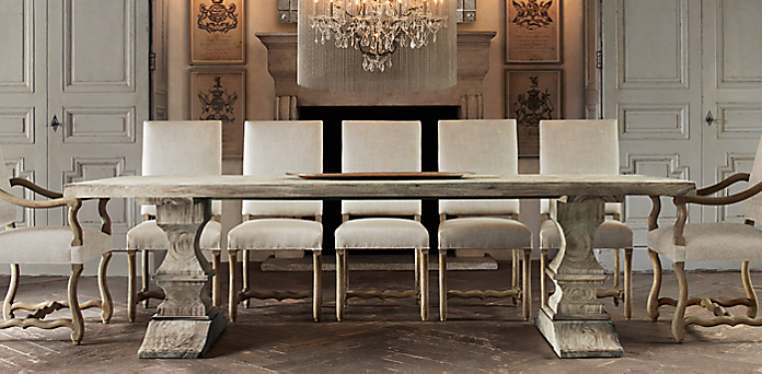 restoration hardware dining room tables