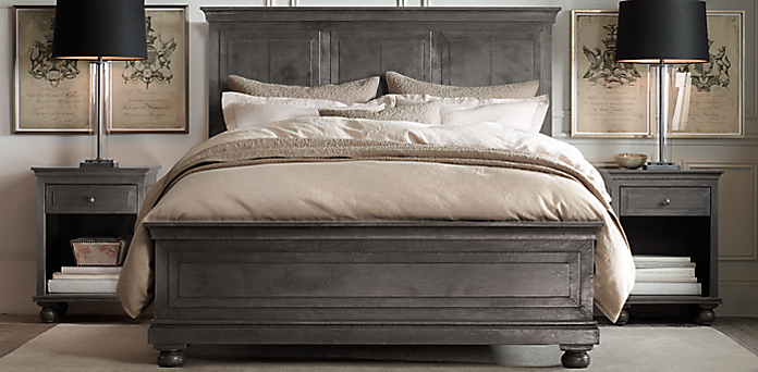 Bedroom collections rh for Restoration hardware bedside tables