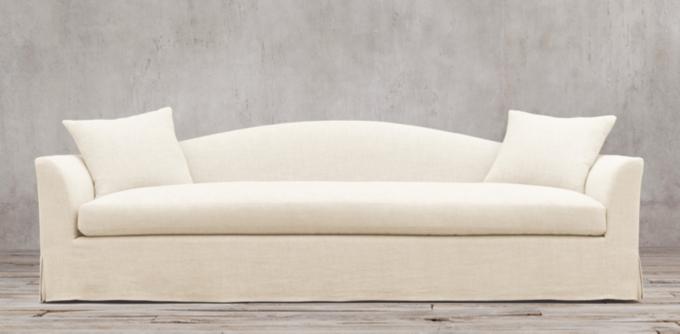 ... Camelback Slipcovered Sofa Restoration Hardware By Belgian Camelback Rh  ...
