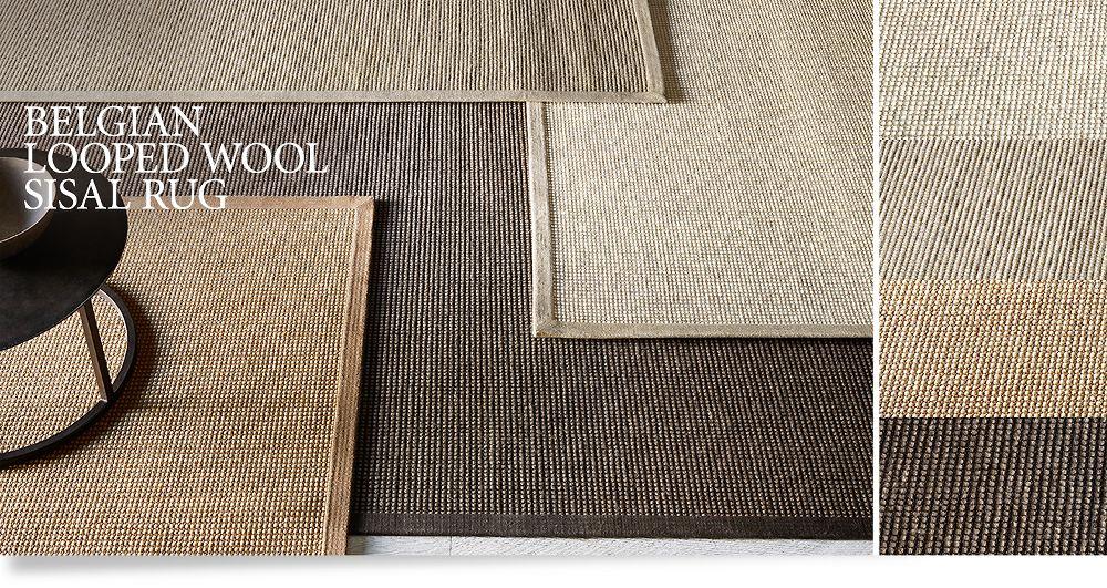 Belgian Looped Wool Sisal Rugs Floor Restoration Hardware