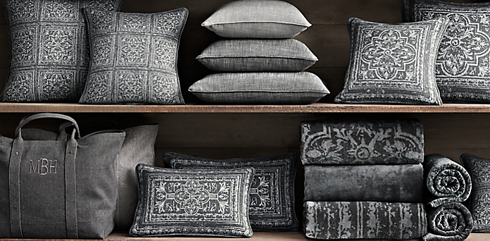 Throw Pillows Rust : Pillows Restoration Hardware Room Ornament