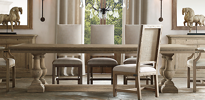st james rectangular table restoration hardware