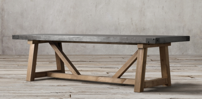 Restoration Hardware Concrete Table
