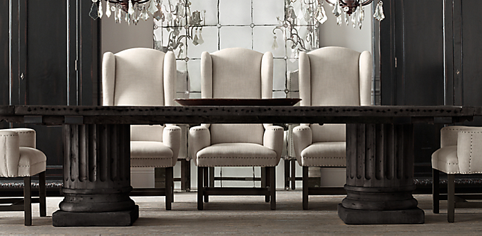 Farmhouse collection for Restoration hardware dining room ideas