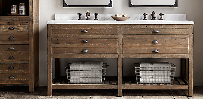 printmaker 39 s bath collection antiqued pine rh