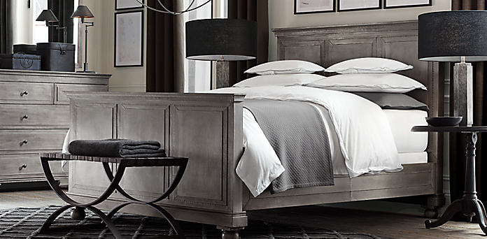 Annecy Metal Wrapped Bedroom Collection Restoration Hardware