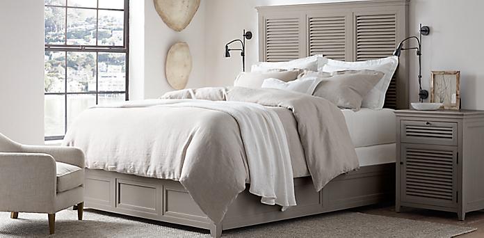 Shutter Bedroom Collection Distressed Grey Restoration