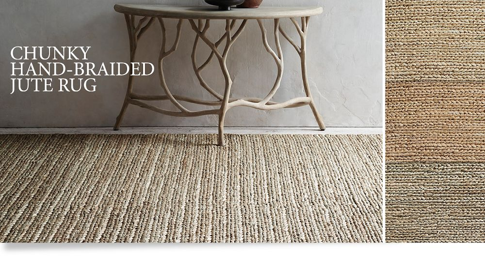 End dated chunky braided jute rug restoration hardware for Restoration hardware kids rugs
