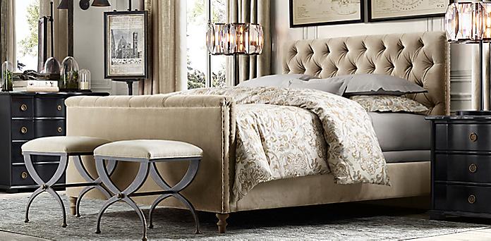 Restoration Hardware Upholstered Bed