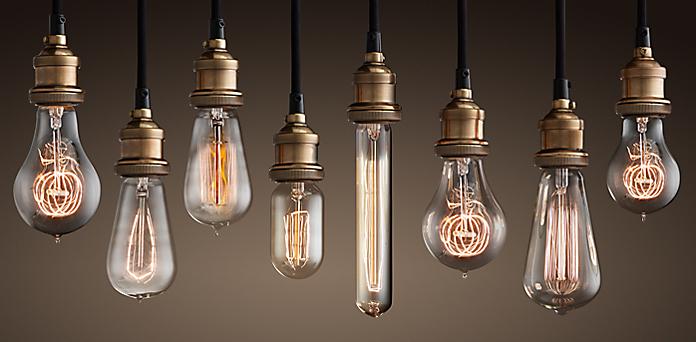 Lightbulbs restoration hardware for Luminaire exterieur retro