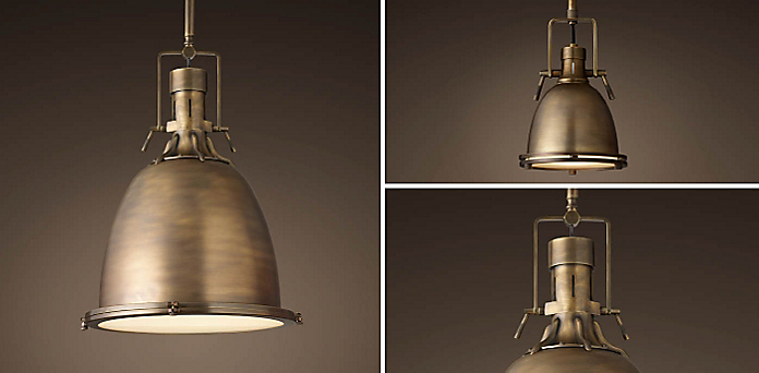 2 styles 3 sizes 4 finishes for When is restoration hardware lighting sale