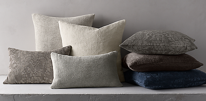 Rh Modern Pillows : Throws, Blankets & Pillows RH